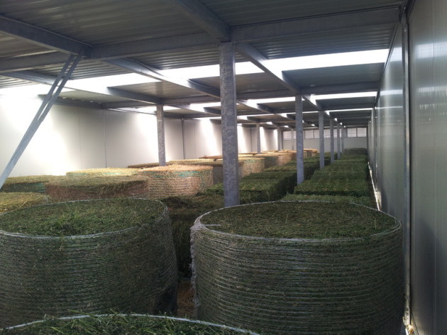 compact hay dryer, round bales, square bales, biogas