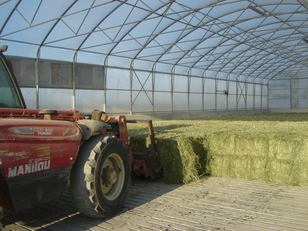 compact, hay dryer, round bales, square bales, concrete, biogas